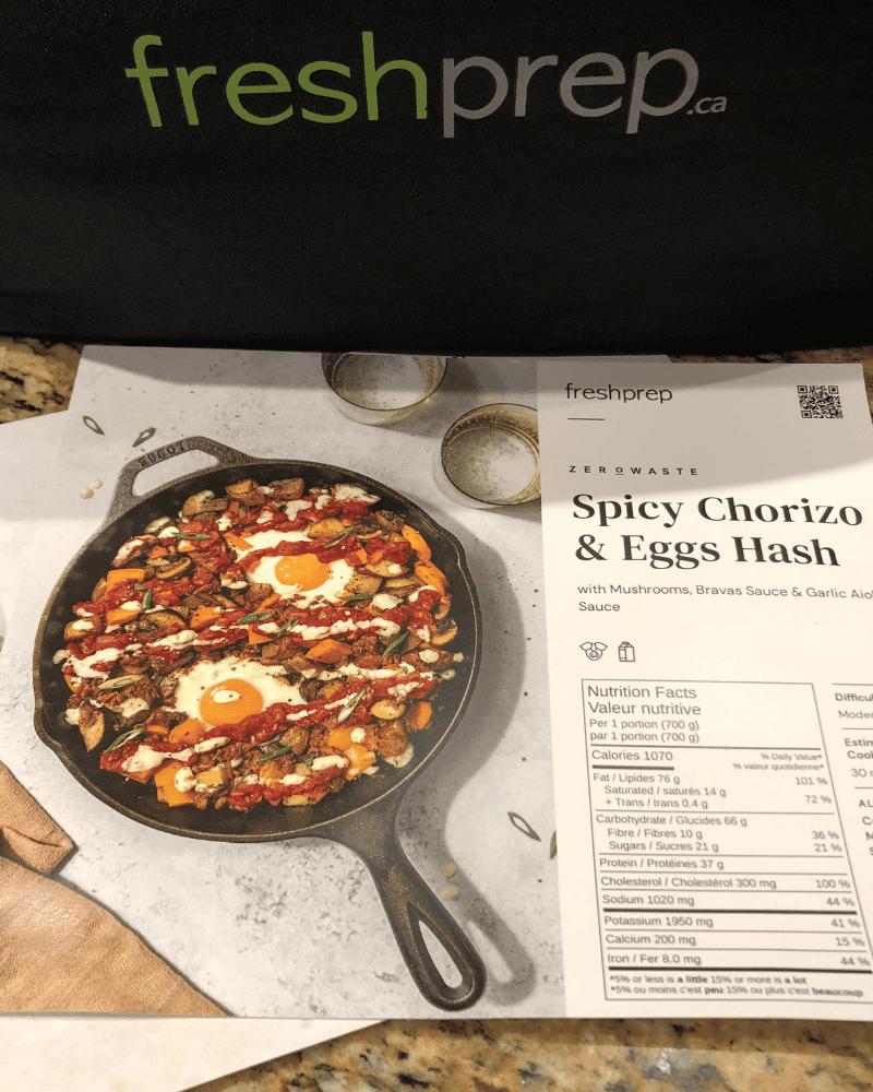 Fresh Prep Zero Waste Kit - Spicy chorizo and eggs hash