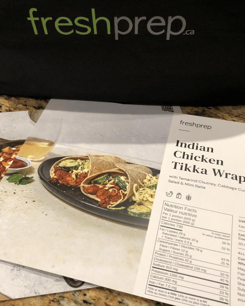 fresh prep review Indian tikka wrap recipe